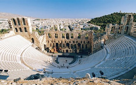 Herodus Atticus from the Acropolis.