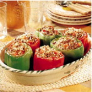 stuffed tomatos and green peppers